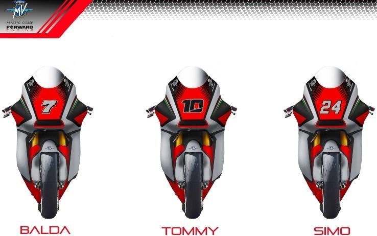 Le tre moto di MV Agusta Forward 2021