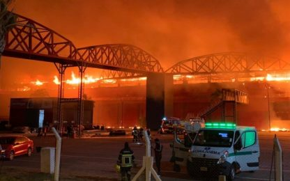 Argentina, incendio devasta il circuito di Termas