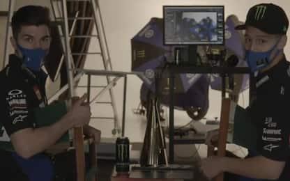 Yamaha, Quartararo e Vinales sul set. VIDEO