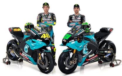 Petronas, presentate le moto di Rossi e Morbidelli