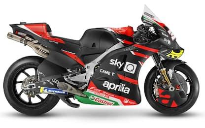 Aprilia, svelata la RS-GP 21: livrea rossa e nera