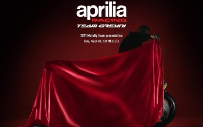 Aprilia 2021, la presentazione in LIVE streaming