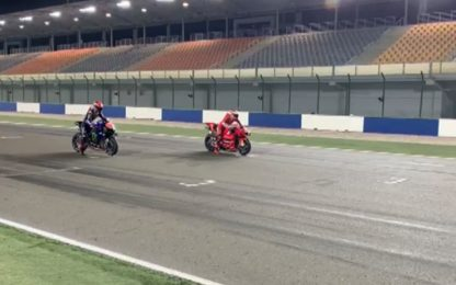 Losail, prove di partenza 'stile dragster'. VIDEO