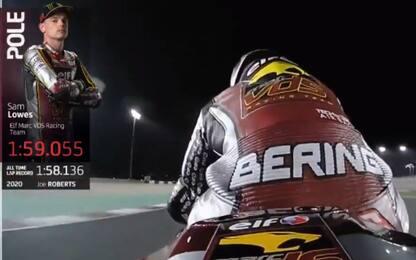 Moto2, la pole è di Lowes. Bezzecchi 3°