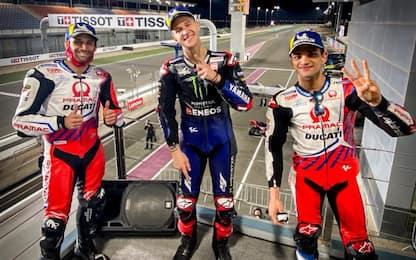GP Doha, vince Quartararo. 2° Zarco, 3° Martin