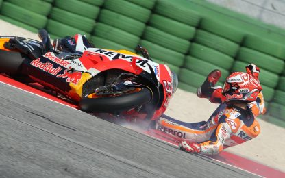 Jerez, la foto-sequenza dell'incidente di Marquez