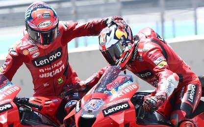 Aragon, doppietta Ducati: pole Bagnaia, 2° Miller