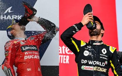 Miller come Ricciardo: esulta bevendo dalla scarpa