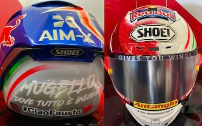 Di Giannantonio, casco dedicato a Fausto Gresini