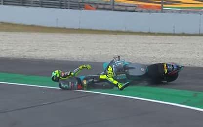 """Rossi cade a 8 giri dal termine: """"Chance persa"""""""