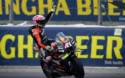 MotoGP, Aprilia al debutto in 1^ fila: la griglia