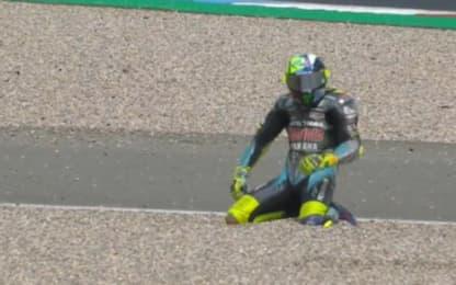 GP da dimenticare per Rossi: cade all'ottavo giro