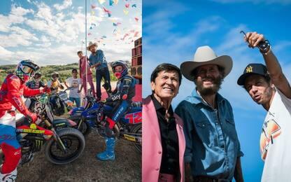 Morandi e Jovanotti al Ranch, videoclip con Rossi