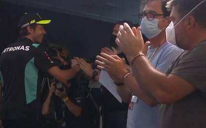 Rossi, la standing ovation dei giornalisiti. VIDEO