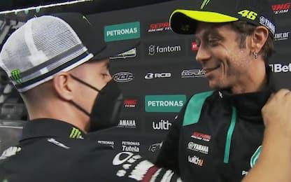"""Vinales a Rossi in diretta: """"Imparato molto da te"""""""
