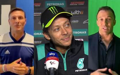 Valentino commosso da Zanetti e Del Piero. VIDEO
