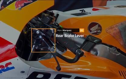 Marquez, debutta il freno in stile scooter. VIDEO