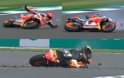 Marquez cade a 270 km/h: moto distrutta, pilota ok