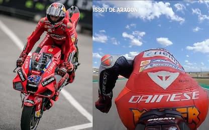 """Show di Miller: """"stoppie"""" e galoppo sulla Ducati"""