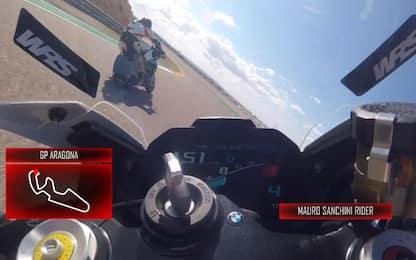 Giro di pista ad Aragon con Meda e Sanchini. VIDEO