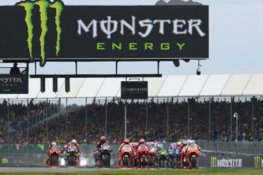SILVERSTONE CIRCUIT, UNITED KINGDOM - AUGUST 29: Pol Espargaro, Repsol Honda Team, Race start during the British GP at Silverstone Circuit on Sunday August 29, 2021 in Northamptonshire, United Kingdom. (Photo by Gold and Goose / LAT Images)