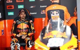 MOTORLAND ARAGON, SPAIN - SEPTEMBER 11: Miguel Oliveira, Red Bull KTM Factory Racing during the Aragon GP at Motorland Aragon on Saturday September 11, 2021 in Alcaniz, Spain. (Photo by Gold and Goose / LAT Images)