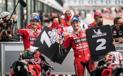 Doppietta Ducati a Misano: pole Bagnaia, 2° Miller