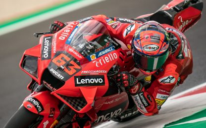 Super Ducati: Libere 3 a Bagnaia. Aprilia in Q2