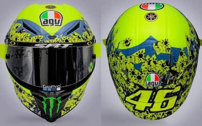 Rossi dedica il casco di Misano al 'popolo giallo'