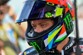 Italian MotoGP rider, number 46 Valentino Rossi, of the Yamaha Factory Racing during the Sunday MotoGP starting grid of the Motorcycling Grand Prix of San Marino and Riviera di Rimini at the Misano Circuit in Misano Adriatico, Italy, 15 September 2019 ANSA/ALESSIO MARINI