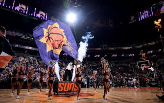 PHOENIX, AZ - APRIL 3 :  A general view prior to the game between the Utah Jazz and Phoenix Suns on April 3, 2019 at Talking Stick Resort Arena in Phoenix, Arizona. NOTE TO USER: User expressly acknowledges and agrees that, by downloading and or using this photograph, user is consenting to the terms and conditions of the Getty Images License Agreement. Mandatory Copyright Notice: Copyright 2019 NBAE (Photo by Michael Gonzales/NBAE via Getty Images)