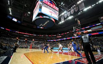 WASHINGTON, DC - NOVEMBER 07: A general view as the Dallas Mavericks play the Washington Wizards during the first half at Capital One Arena on November 7, 2017 in Washington, DC. NOTE TO USER: User expressly acknowledges and agrees that, by downloading and or using this photograph, User is consenting to the terms and conditions of the Getty Images License Agreement. (Photo by Patrick Smith/Getty Images)