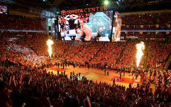 HOUSTON, TX - MAY 28: A general view of the arena before Game Seven of the Western Conference Finals between the Golden State Warriors and the Houston Rockets during the 2018 NBA Playoffs on May 28, 2018 at the Toyota Center in Houston, Texas. NOTE TO USER: User expressly acknowledges and agrees that, by downloading and/or using this photograph, user is consenting to the terms and conditions of the Getty Images License Agreement. Mandatory Copyright Notice: Copyright 2018 NBAE (Photo by Noah Graham/NBAE via Getty Images)