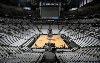 SAN ANTONIO, TX - MAY 20: A general view before the game between the San Antonio Spurs and the Golden State Warriors in Game Three of the Western Conference Finals of the 2017 NBA Playoffs on May 20, 2017 AT&T Center in San Antonio, Texas. NOTE TO USER: User expressly acknowledges and agrees that, by downloading and or using this photograph, user is consenting to the terms and conditions of the Getty Images License Agreement. Mandatory Copyright Notice: Copyright 2017 NBAE (Photos by Mark Sobhani/NBAE via Getty Images)