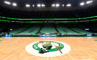 BOSTON, MA - APRIL 17: A general view of the arena before Game Two of Round One of the 2019 NBA Playoffs against the Boston Celtics on April 17, 2019 at the TD Garden in Boston, Massachusetts.  NOTE TO USER: User expressly acknowledges and agrees that, by downloading and or using this photograph, User is consenting to the terms and conditions of the Getty Images License Agreement. Mandatory Copyright Notice: Copyright 2019 NBAE  (Photo by Brian Babineau/NBAE via Getty Images)