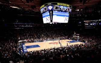 NEW YORK, NY - JANUARY 13:  An overall view of the game between the New York Knicks and Philadelphia 76ers on January 13, 2019 at Madison Square Garden in New York City, New York.  NOTE TO USER: User expressly acknowledges and agrees that, by downloading and or using this photograph, User is consenting to the terms and conditions of the Getty Images License Agreement. Mandatory Copyright Notice: Copyright 2019 NBAE  (Photo by David Dow/NBAE via Getty Images)