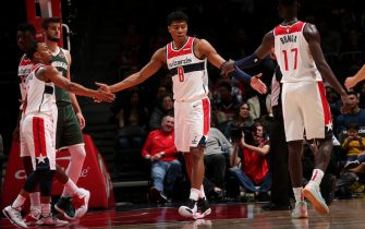 Rui Hachimura in campo per Washington