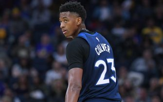 SAN FRANCISCO, CALIFORNIA - OCTOBER 10: Jarrett Culver #23 of the Minnesota Timberwolves looks on against the Golden State Warriors during an NBA basketball game at Chase Center on October 10, 2019 in San Francisco, California. NOTE TO USER: User expressly acknowledges and agrees that, by downloading and or using this photograph, User is consenting to the terms and conditions of the Getty Images License Agreement. (Photo by Thearon W. Henderson/Getty Images)