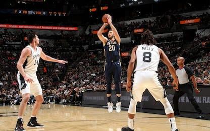 Pelicans-Spurs, va a Melli il primo derby italiano