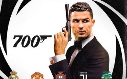 CR7 festeggia 700 gol: per Georgina è James Bond