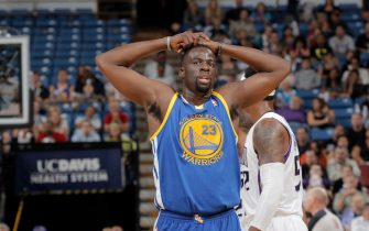 SACRAMENTO, CA - OCTOBER 17:  Draymond Green #23 of the Golden State Warriors with his hands above his head during the game against the Sacramento Kings on October 17, 2012 at Power Balance Pavilion in Sacramento, California. NOTE TO USER: User expressly acknowledges and agrees that, by downloading and or using this photograph, User is consenting to the terms and conditions of the Getty Images Agreement. Mandatory Copyright Notice: Copyright 2012 NBAE (Photo by Rocky Widner/NBAE via Getty Images)