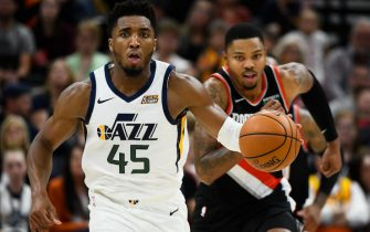 at Vivint Smart Home Arena on October 16, 2019 in Salt Lake City, Utah. NOTE TO USER: User expressly acknowledges and agrees that, by downloading and or using this photograph, User is consenting to the terms and conditions of the Getty Images License Agreement. (Photo by Alex Goodlett/Getty Images)
