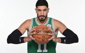 CANTON, MA - SEPTEMBER 30: Enes Kanter #11 of the Boston Celtics poses for a portrait on September 30, 2019 at High Output Studios in Canton, Massachusetts. NOTE TO USER: User expressly acknowledges and agrees that, by downloading and or using this photograph, User is consenting to the terms and conditions of the Getty Images License Agreement. Mandatory Copyright Notice: Copyright 2019 NBAE (Photo by Brian Babineau/NBAE via Getty Images)