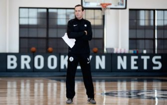 BROOKLYN, NY - SEPTEMBER 27: Head Coach Kenny Atkinson of the Brooklyn Nets is seen during practice on September 27, 2018 at HSS Training Center in Brooklyn, New York. NOTE TO USER: User expressly acknowledges and agrees that, by downloading and or using this Photograph, user is consenting to the terms and conditions of the Getty Images License Agreement. Mandatory Copyright Notice: Copyright 2018 NBAE (Photo by Nathaniel S. Butler/NBAE via Getty Images)