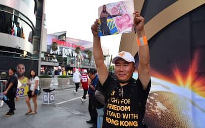 NBA-Cina, niente opener in TV. Proteste a L.A.