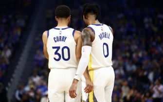 Steph Curry e D'Angelo Russell