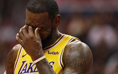 Anche LeBron tira il fiato: riposa contro i Kings