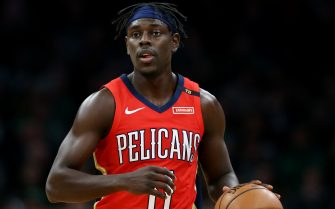 BOSTON, MA - DECEMBER 10: Jrue Holiday #11 of the New Orleans Pelicans dribbles against the Boston Celtics at TD Garden on December 10, 2018 in Boston, Massachusetts. (Photo by Maddie Meyer/Getty Images)