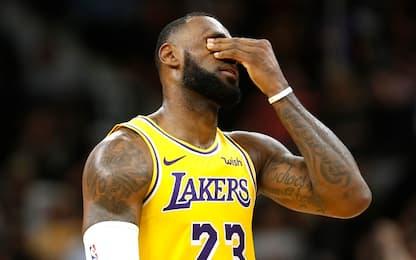 """LeBron: """"Sarebbe dura vedere l'anno finire così"""""""
