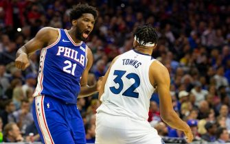 Joel Embiid e Karl-Anthony Towns